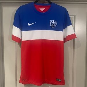 Authentic Nike USA men soccer jersey Bomb Pop 2014